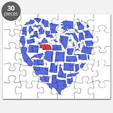 Nebraska Heart Puzzle