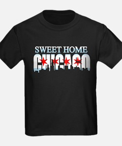 Sweet Home Chicago Flag Skyline T-Shirt