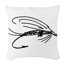Abstract Wet Fly Lure Woven Throw Pillow