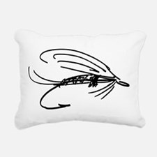 Abstract Wet Fly Lure Rectangular Canvas Pillow