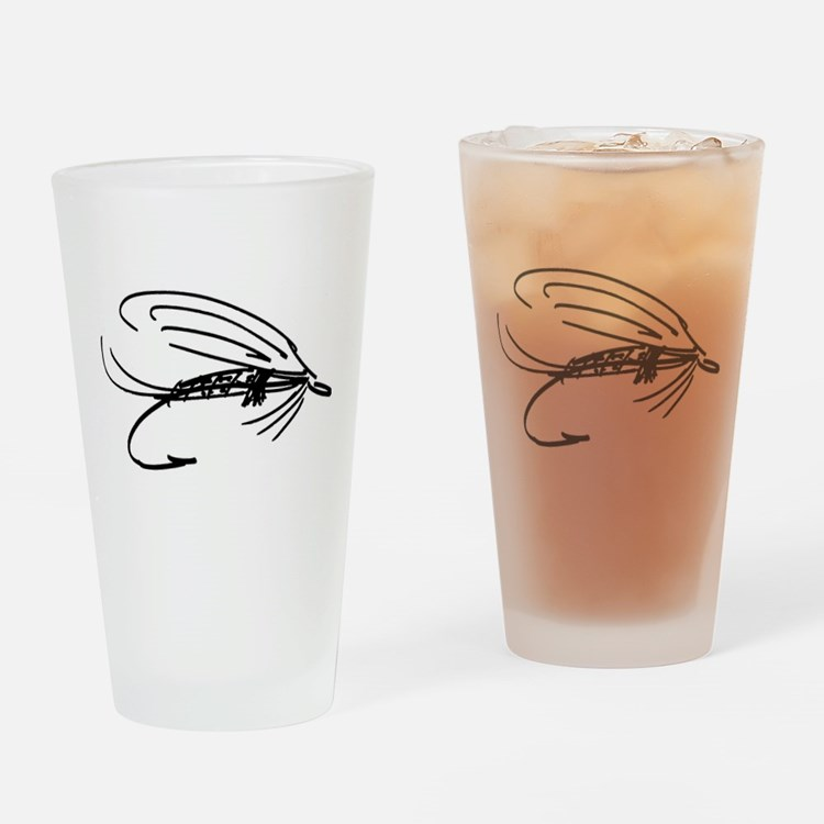 Abstract Wet Fly Lure Drinking Glass