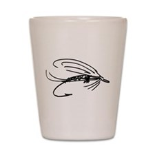 Abstract Wet Fly Lure Shot Glass