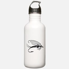 Abstract Wet Fly Lure Water Bottle