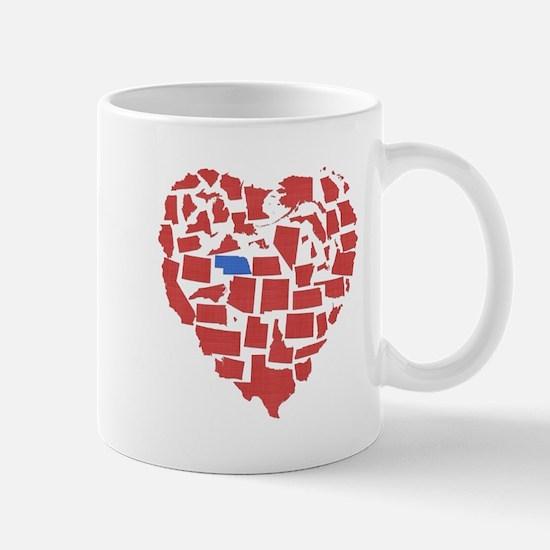Nebraska Heart Mug