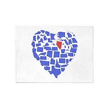 Nevada Heart 5'x7'Area Rug