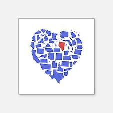 """Nevada Heart Square Sticker 3"""" x 3"""""""