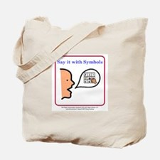Say it with Symbols Tote Bag
