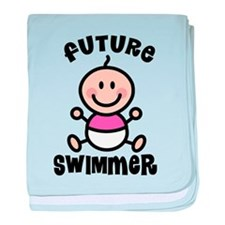 Future swimmer baby blanket