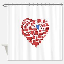 Nevada Heart Shower Curtain