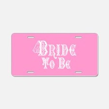 Bride To Be With Veil, Fancy White Type Pink Alumi