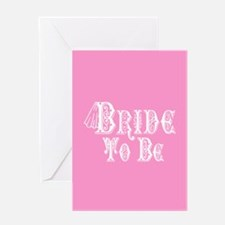 Bride To Be With Veil, Fancy White Type Pink Greet