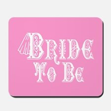 Bride To Be With Veil, Fancy White Type Pink Mouse