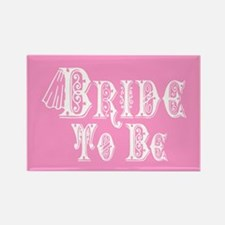 Bride To Be With Veil, Fancy White Type Pink Magne