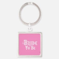 Bride To Be With Veil, Fancy White Type Pink Keych