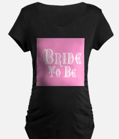 Bride To Be With Veil, Fancy White Type Pink Mater
