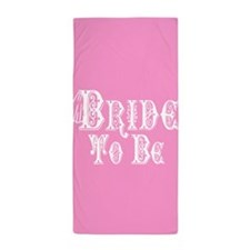 Bride To Be With Veil, Fancy White Type Pink Beach