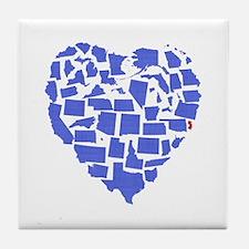 New Jersey Heart Tile Coaster