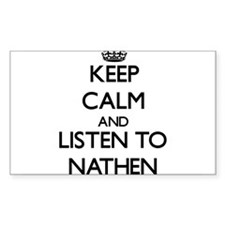 Keep Calm and Listen to Nathen Decal