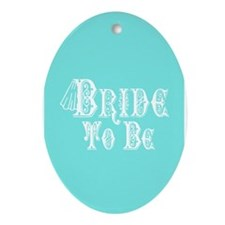Bride To Be With Veil, Fancy White Type Teal Ornam