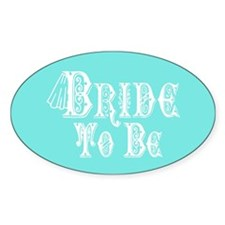 Bride To Be With Veil, Fancy White Type Teal Stick