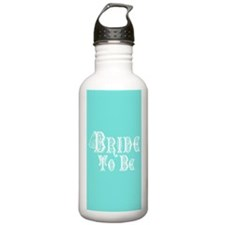 Bride To Be With Veil, Fancy White Type Teal Water