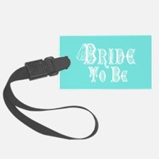 Bride To Be With Veil, Fancy White Type Teal Lugga