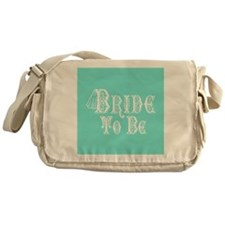Bride To Be With Veil, Fancy White Type Teal Messe