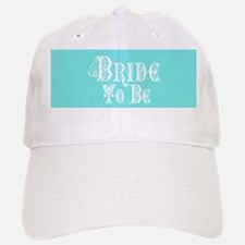 Bride To Be With Veil, Fancy White Type Teal Baseb
