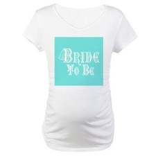 Bride To Be With Veil, Fancy White Type Teal Mater