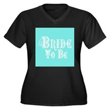 Bride To Be With Veil, Fancy White Type Teal Plus