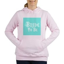 Bride To Be With Veil, Fancy White Type Teal Women