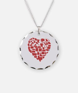 New Jersey Heart Necklace