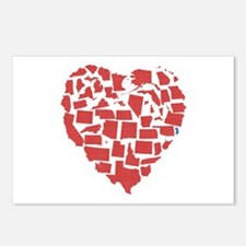 New Jersey Heart Postcards (Package of 8)
