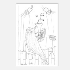 Narwhal Playing Tuba Postcards (Package of 8)