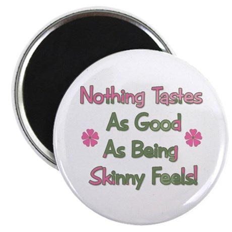 "Wanna Be Skinny 2.25"" Magnet (10 pack)"