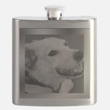 Your Photo in a Silver Frame Flask