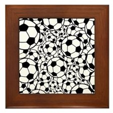 A gazillion soccer balls Framed Tile