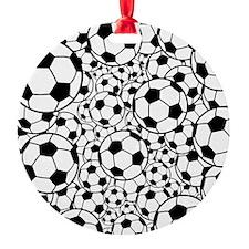 A gazillion soccer balls Ornament