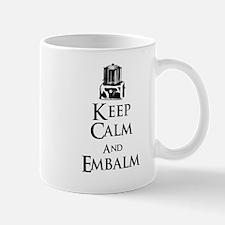 Keep Calm and Embalm Light Mugs