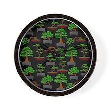 Unique Bonsai trees Wall Clock