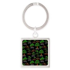 Cool Bonsai Square Keychain