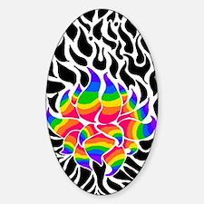Rainbow Lotus Decal