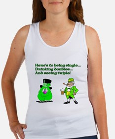 Here's to being single Women's Tank Top
