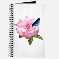 Pink Rose and butterfly Journal