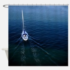 Sail Boat In Motion Shower Curtain