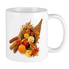 Thanksgiving Cornucopia Small Mugs
