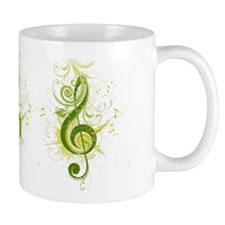 Green Treble Clef Mugs