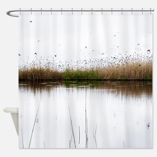 Many Birds Flying Shower Curtain