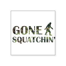 Gone Squatchin Camouflage Sticker
