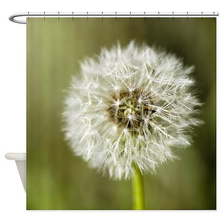 dandelion shower curtain by oliviaphotoart